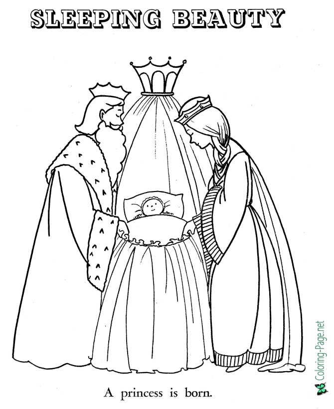 fairy tales sleeping beauty coloring pages