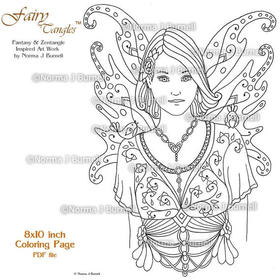 fairy tangles printable coloring pages norma j burnell fairies to color fairy coloring book sheets for adult coloring digital coloring