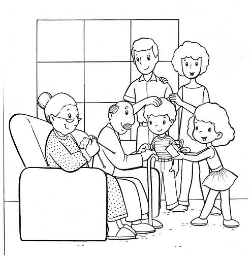 family coloring pages google search family coloring