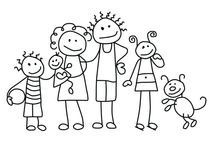 family coloring pages printable at getdrawings free