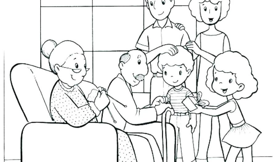 family picture coloring page sarcasticbuddy