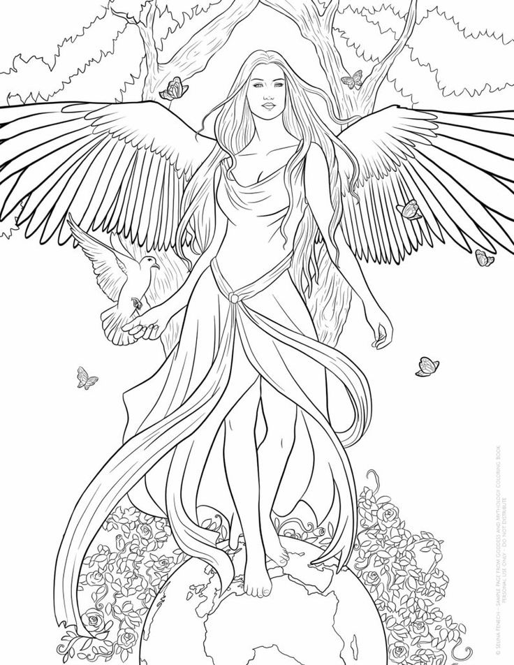 fantasy coloring pages for adults at getdrawings free