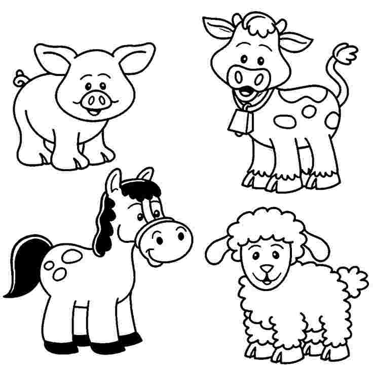 farm animals coloring pages for toddlers huangfei