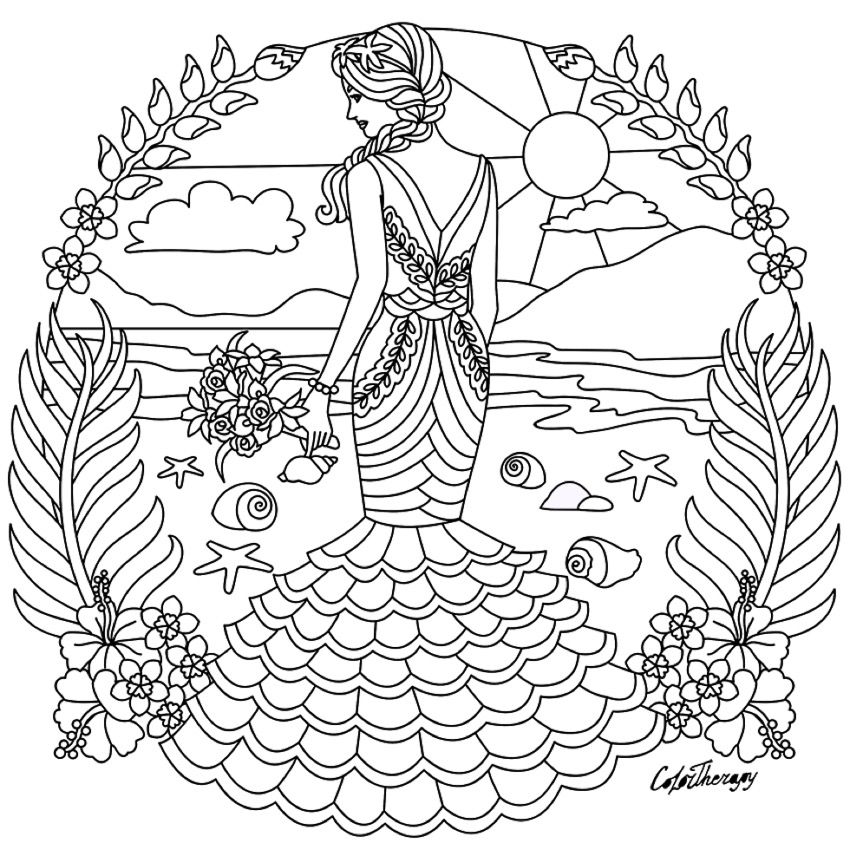 fashion colouring page fairy coloring pages cute coloring