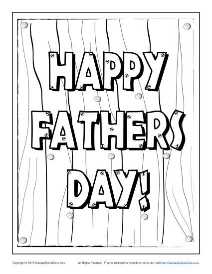 fathers day coloring pages on sunday school zone