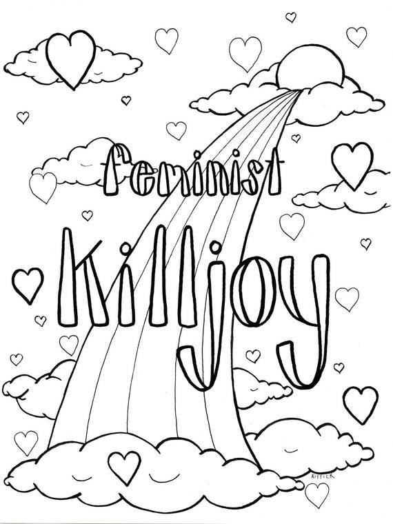 feminist killjoy adult coloring pages feminism resistance nasty woman foul language