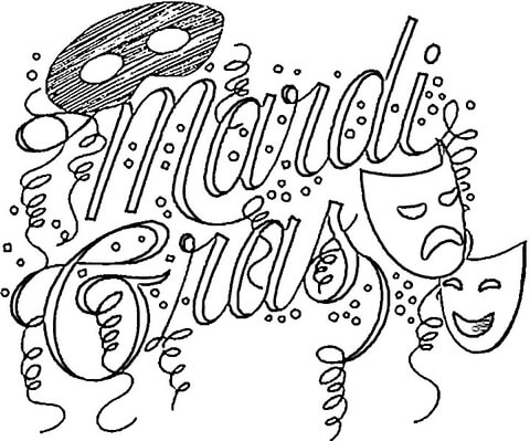 festival of mardi gras coloring page free printable