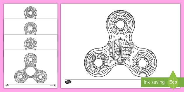 fidget spinner mindfulness colouring pages relax