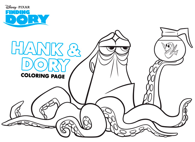 finding dory coloring pages activities
