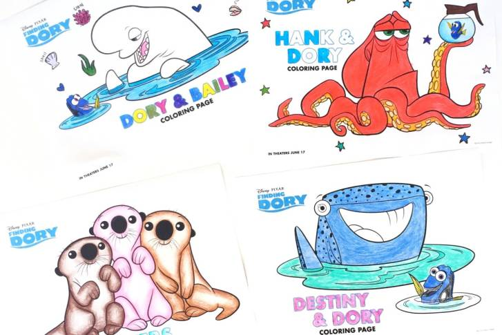 finding dory coloring pages disney family