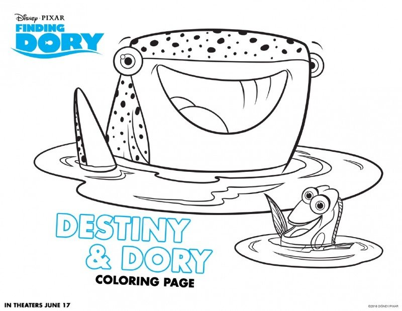 finding dory coloring pages printables