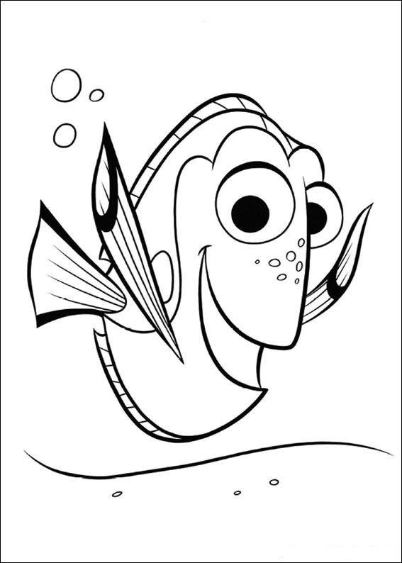 finding dory coloring pages to download and print for free