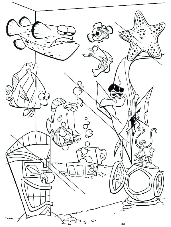 finding nemo coloring pages pdf page yinneclub