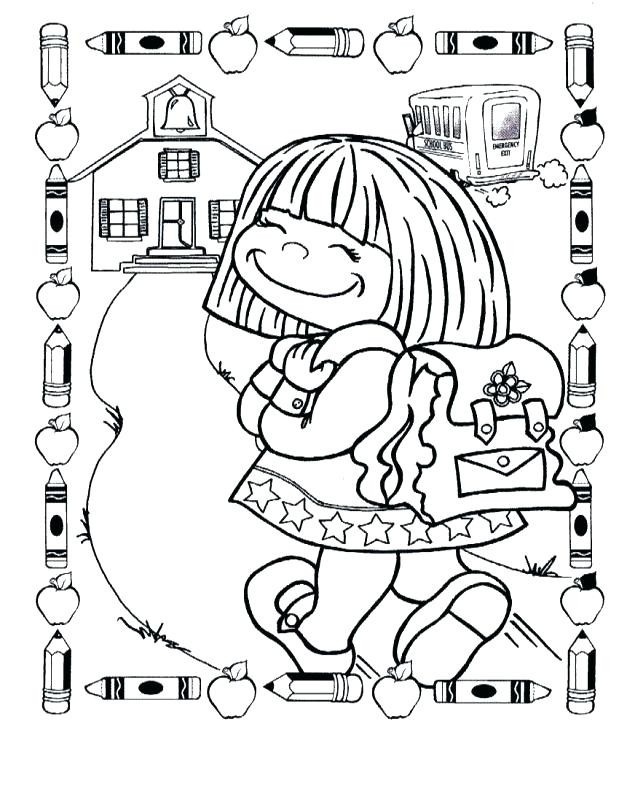 first day of school coloring pages at getdrawings free