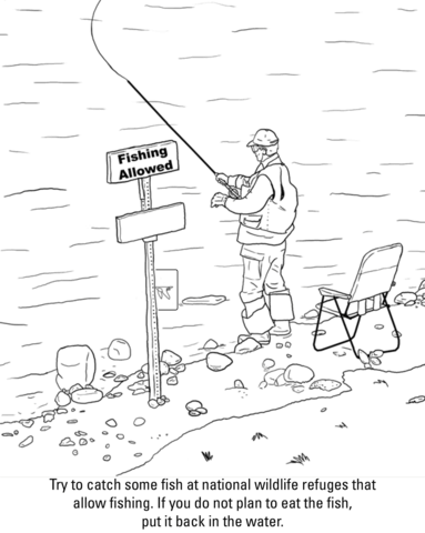 fishing coloring page free printable coloring pages