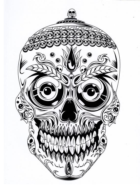- Skull Coloring Pages Collection - Whitesbelfast