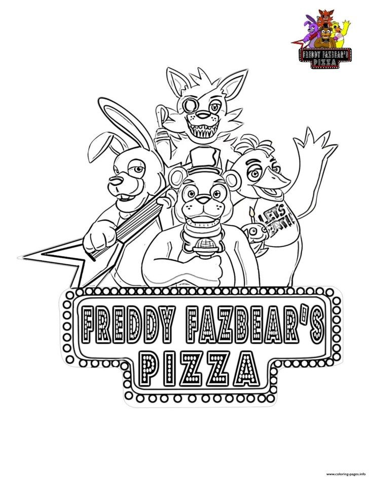 five nights at freddys coloring pages five nights at