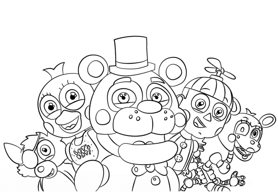 five nights at freddys coloring pages fnaf coloring pages