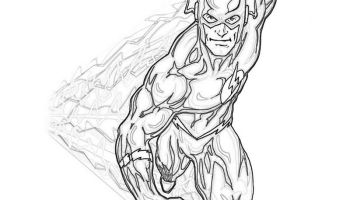 The Flash Coloring Page - Free Coloring Pages Online | 200x350