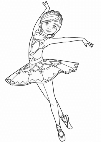 flicie milliner from ballerina movie coloring page free