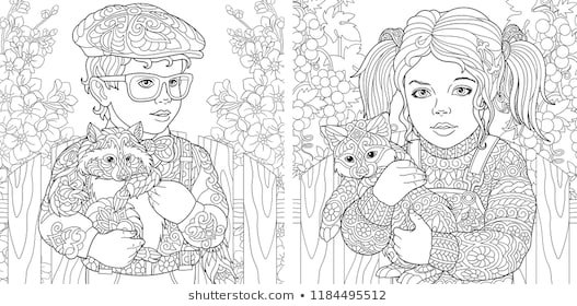 flower adult coloring pages stock illustrations images