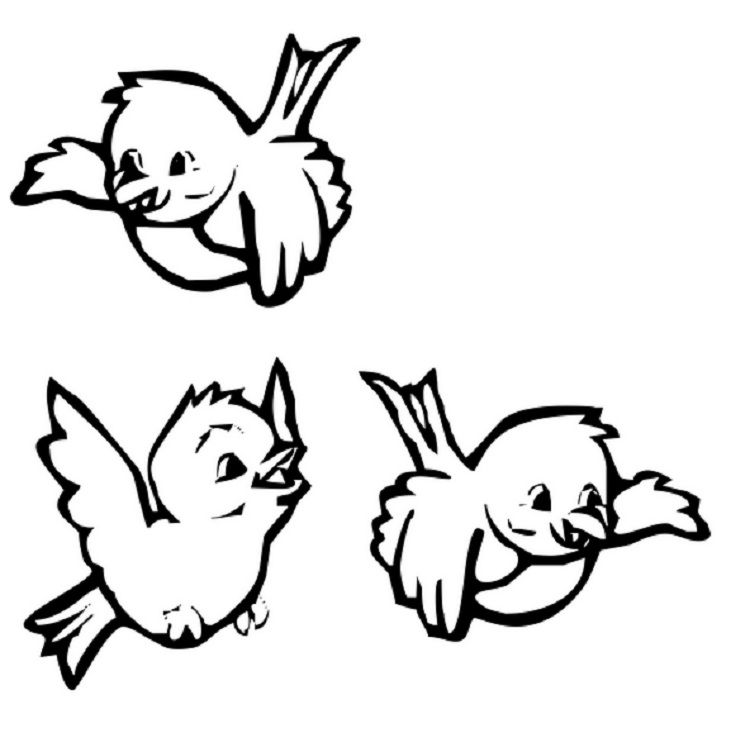 flying birds coloring pages
