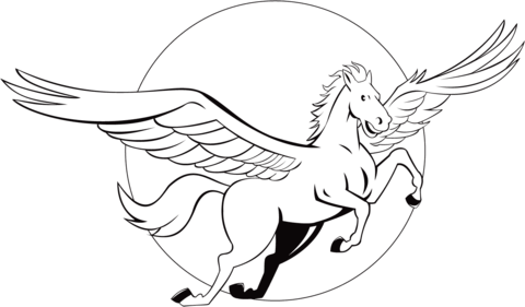 flying pegasus coloring page free printable coloring pages