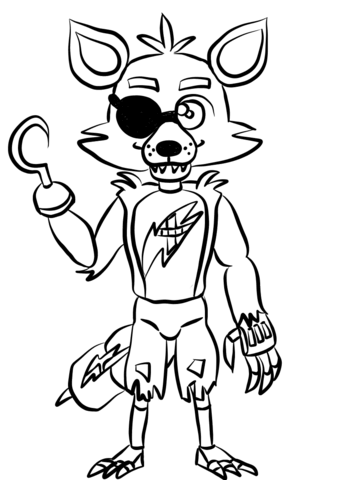 fnaf foxy coloring page fnaf coloring pages coloring