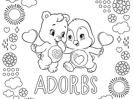 follow your heart care bears coloring page ag kidzone