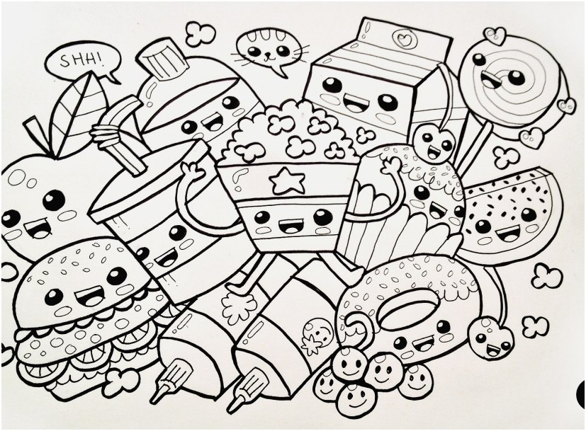 food coloring page gallery cute kawaii food coloring pages