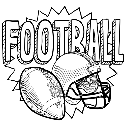 football coloring page football coloring pages sports