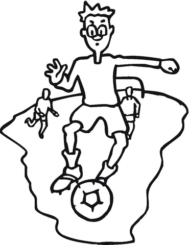 football soccer coloring page free printable coloring pages