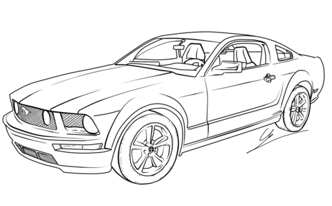 ford mustang gt coloring page free printable coloring pages