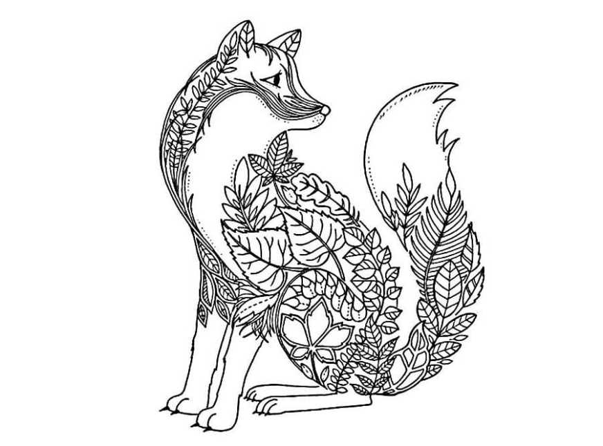 fox coloring pages print for free for girls and boys