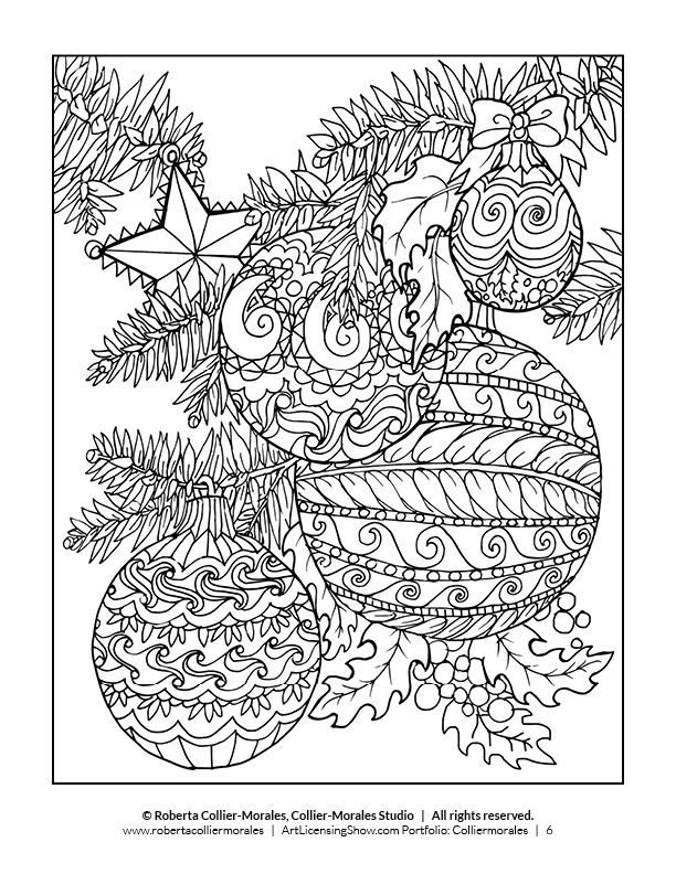 free 92 page holiday coloring book color malvorlagen