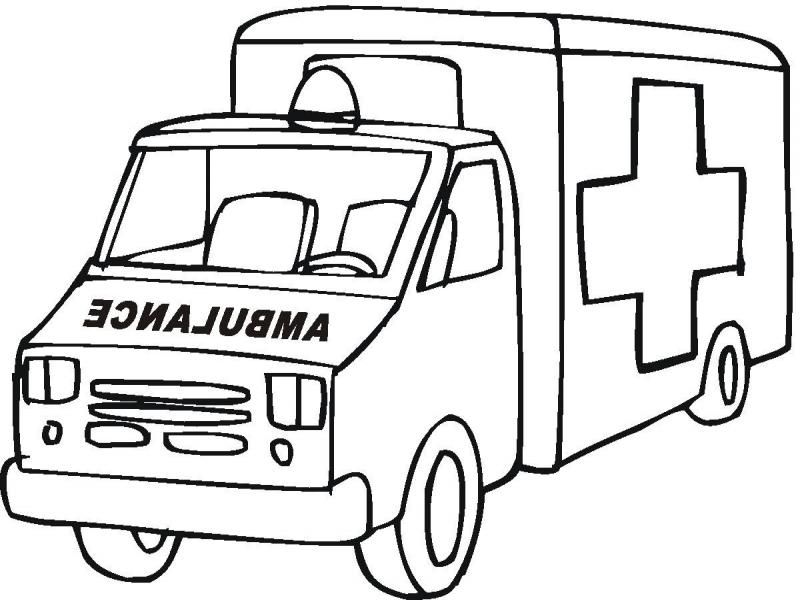 free ambulance coloring pages download free clip art free