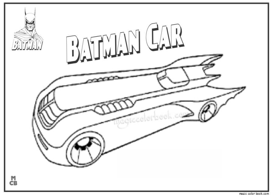 free batman car coloring pages print download free clip art
