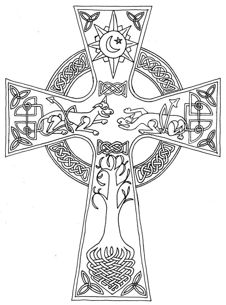 free celtic cross coloring page download free clip art