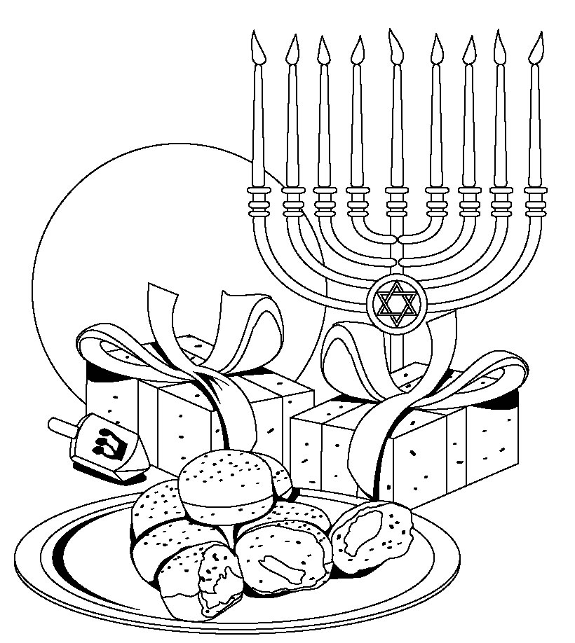 free chanukah coloring pages download free clip art free