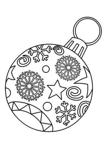 free christmas ornaments coloring pages printable