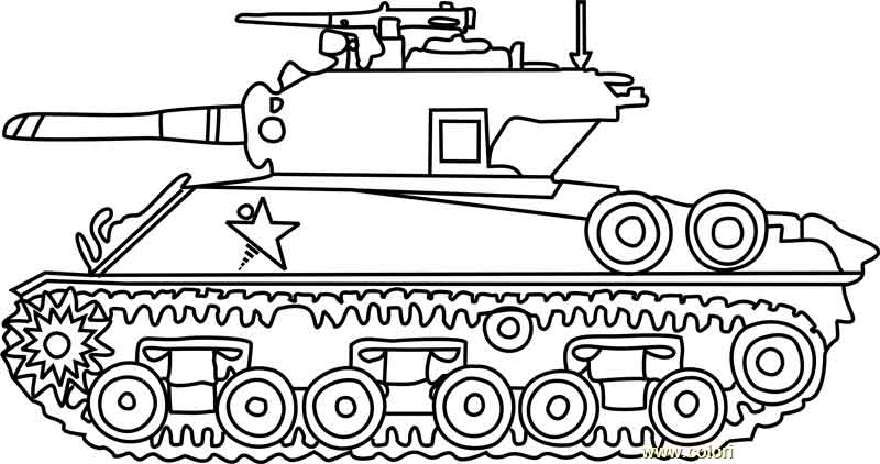 free coloring army tanks m4 sherman army tank printable of