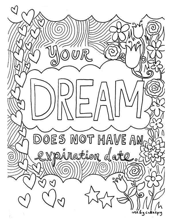 free coloring book pages inspirational quotes quote