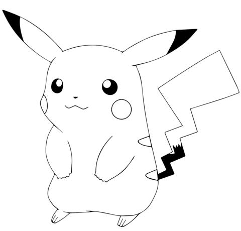 free coloring page pikachu pusat hobi