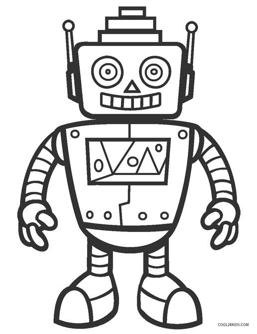 free coloring page robot pusat hobi