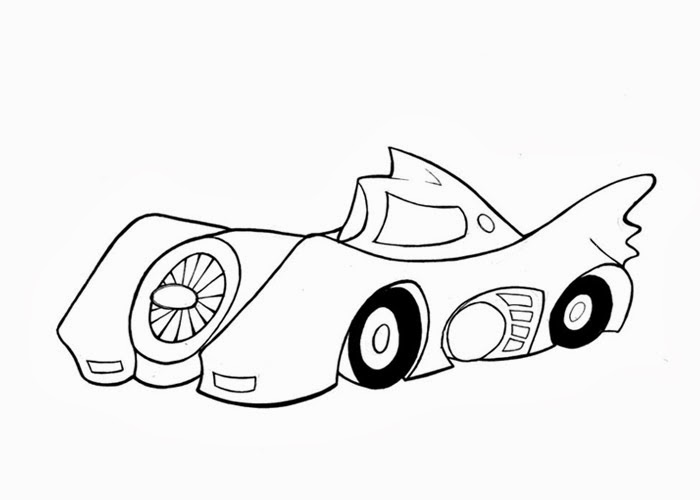 free coloring pages and coloring books for kids batmobile