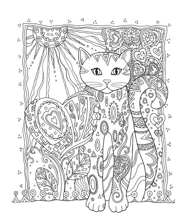 free coloring pages for adults cats
