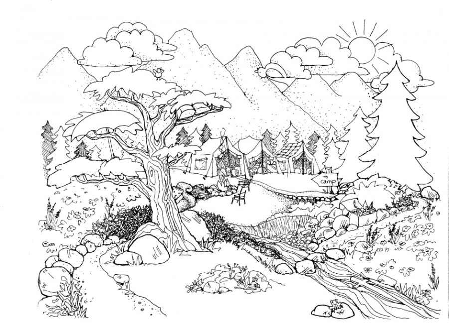 free coloring pages for adults nature download free clip