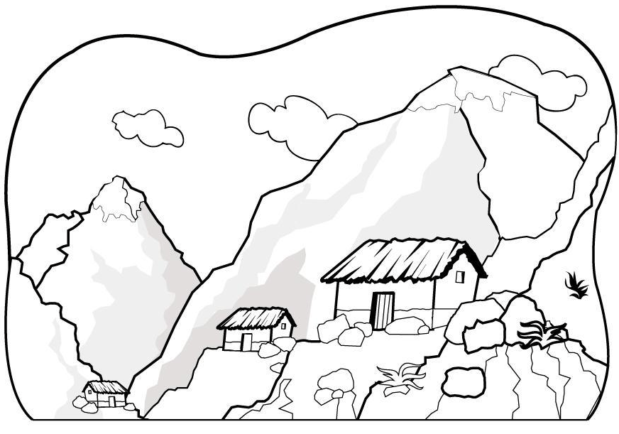 free coloring pages mountain download free clip art free