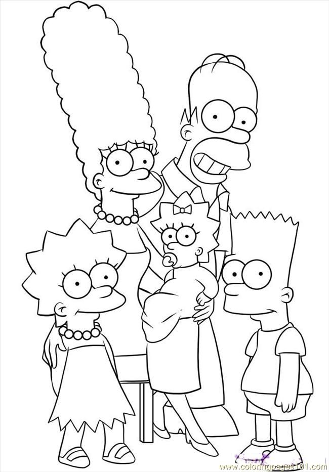 free coloring pages of the simpsons download free clip art