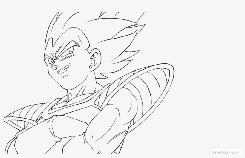 free coloring pages of vegeta line art xphire906 vegeta